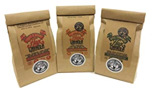 Flax Granola - Variety Pack: Fruit & Berry, Pumpkin Spice, and Apple Cinnamon - The Plan Friendly, Gluten Free - 12 oz, 3 pack