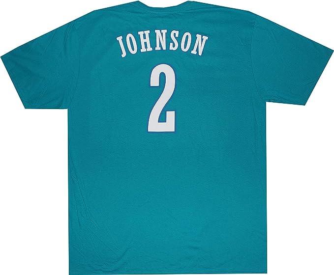online retailer 7017b 5a47f Amazon.com: adidas Charlotte Hornets Larry Johnson 1992 ...