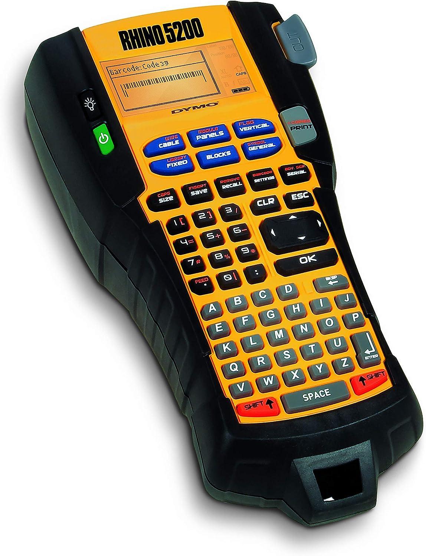 DYMO Rhino 5200 W/ärme/übertragung 180 x 180DPI W/ärme/übertragung, 180 x 180 DPI, 10 mm//sek, 100 Etikett , 1,9 cm, 6, 9, 12, 19 Etikettendrucker en