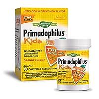 Nature's Way Primadophilus Kids 3 Billion CFU, 30 Orange Flavored Chews (Ages 2-...