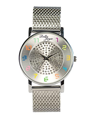 Bella joya Mujer Reloj Elba, Milanaise de acero inoxidable banda