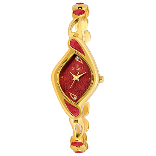5442cadd87d Buy SWISSTYLE Analogue Red Dial Women s Watch-SS-LR1415-RED-GLD Online at Low  Prices in India - Amazon.in