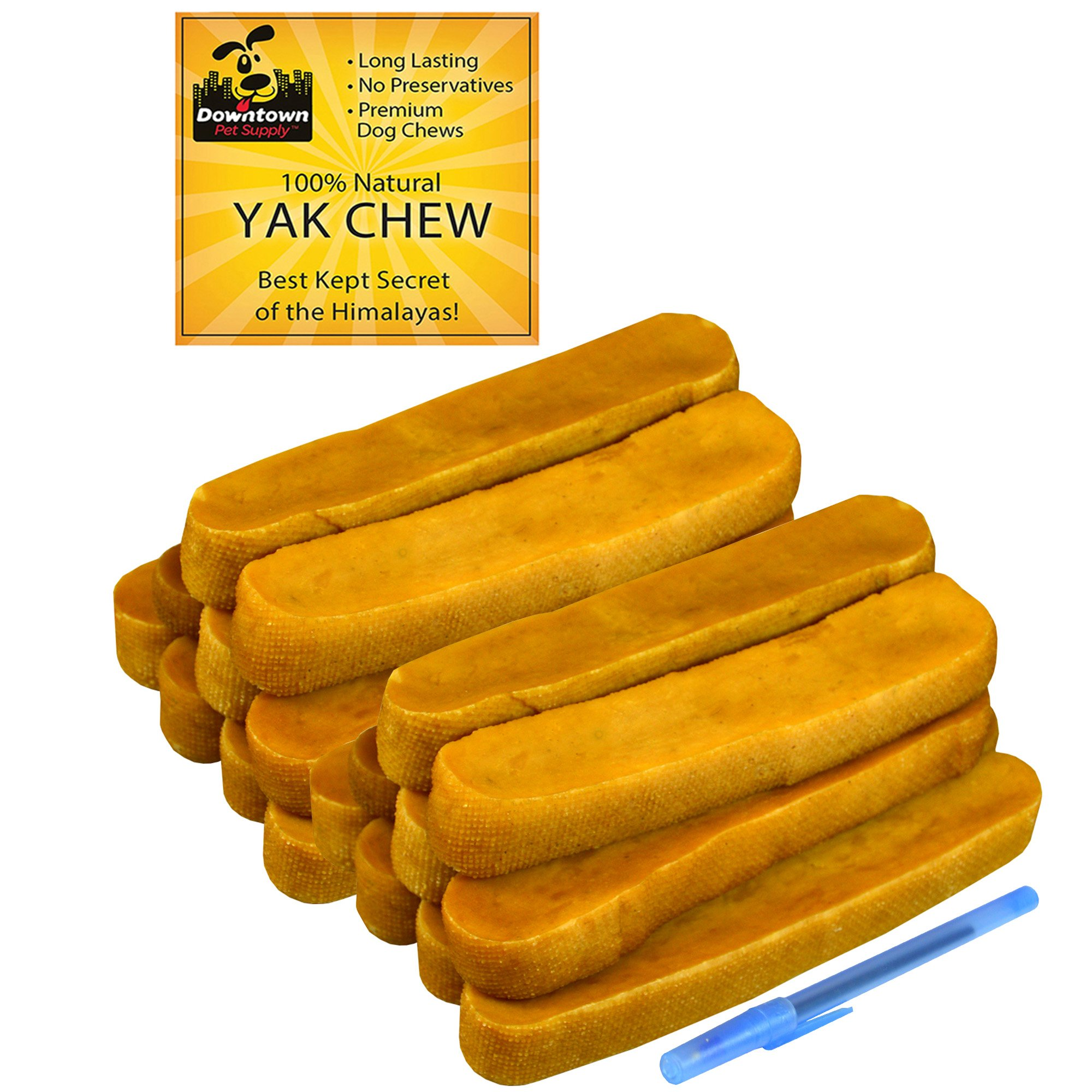Himalayan Yak Dog Chew, 100% Natural Dog Chews for Small, Medium, and Large Dogs: Mixed Packs, Variety of sizes, by Downtown Pet Supply (10 lb)