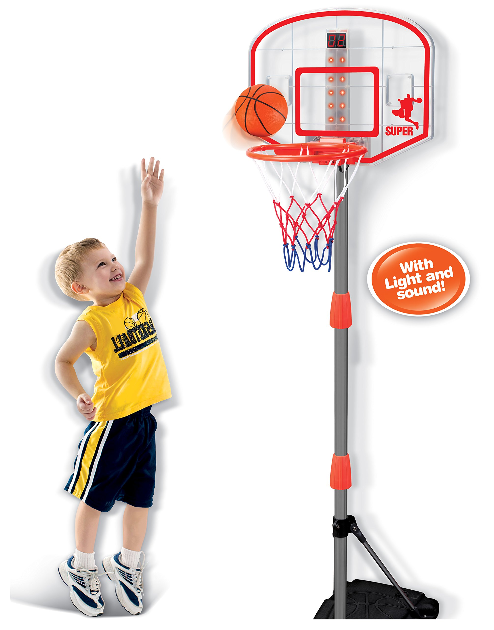 Liberty Imports Junior Electronic Basketball Hoop Stand Indoor Game with Scoreboard (Lights and Sounds) by Liberty Imports