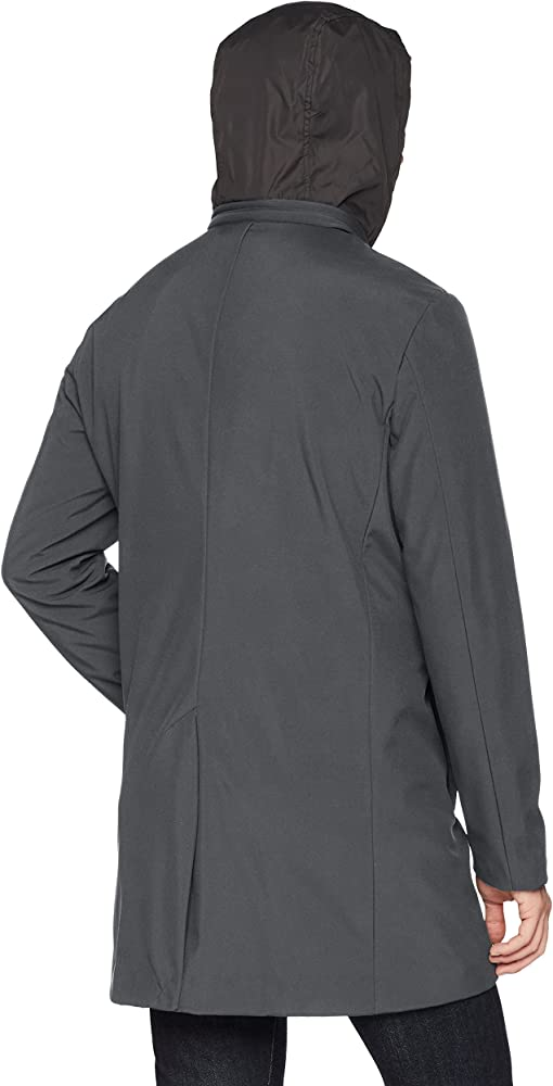 36 Short grey DKNY Mens Water Resistant Soft Shell Jacket