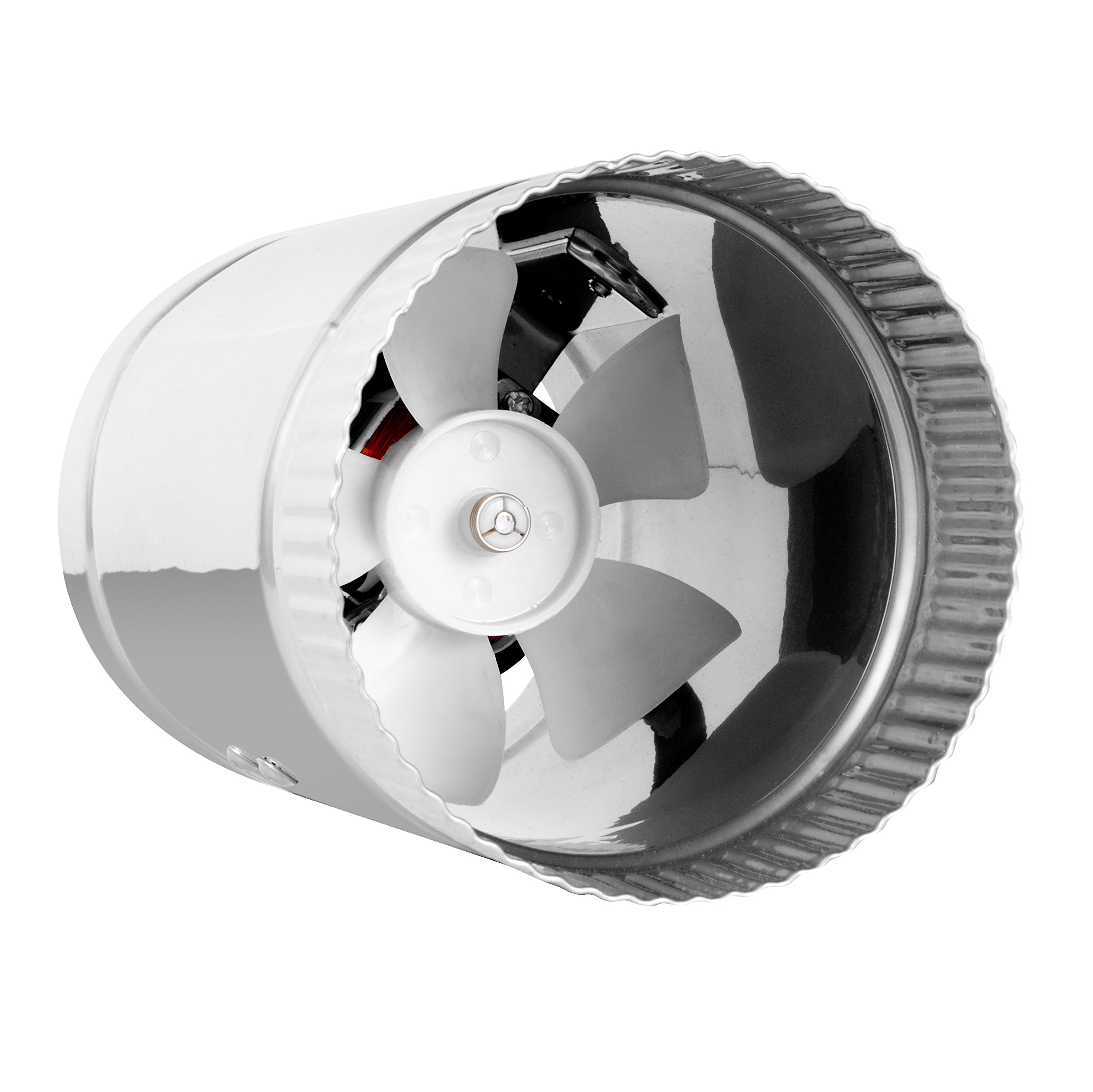 4'' Inline Fan - 100 CFM, Metal Duct Booster Fan, ETL Listed, Pre-Wired 6 FT Grounded Cord - Great For Grow Tent Exhaust and Intake, Register Booster For 4 Inch Ducts