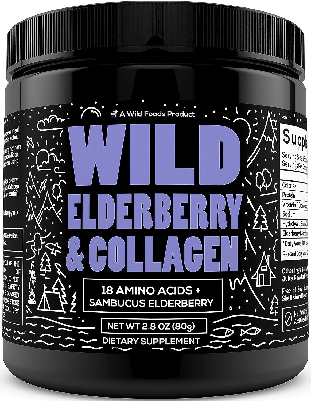Wild Elderberry and Collagen - 18 Amino Acids + Sambucus Elderberry - 7 Day Sample