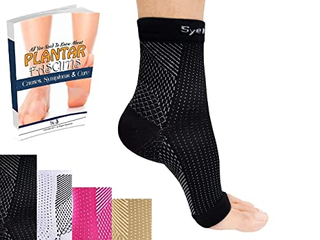 dbf6e4fe04 SyeJam Plantar Fasciitis Socks Sleeve- Walking & Running Compression Sock  for Mens & Womens Foot