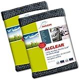ALCLEAR 820901M_2 Chiffon Microfibre Ultra Merveille du Séchage Maxi, Anthracite, 80x55 cm, Lot de 2