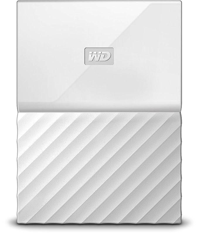 WD My Passport - Disco Duro portátil de 2 TB y Software de Copia de Seguridad automática, Blanco: Western-Digital: Amazon.es: Informática