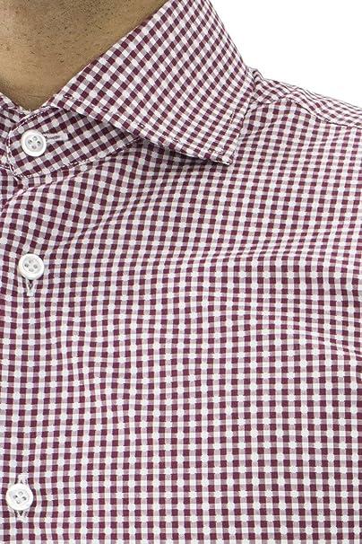 Nuova tra qualche giorno ultime versioni CARILLO CAMICIE Camicia Uomo Puro Cotone Slim Fit Collo ...