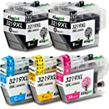 Kingjet LC3219XL Compatible Brother LC3219XL LC3219 Ink Cartridges for Brother MFC-J5330DW MFC-J5335DW MFC-J5730DW MFC-J5930DW MFC-J6530DW MFC-J6930DW MFC-J6935DW ( 2Black, Cyan, Magenta, Yellow )