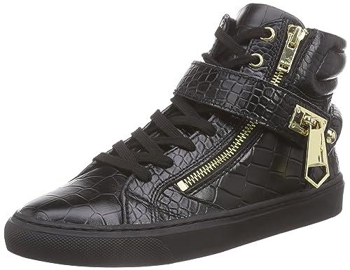 Aldo Sesuta - Zapatillas de Piel Para Mujer Negro Schwarz (Black Multi 90) 38 vNcbEF0FeA