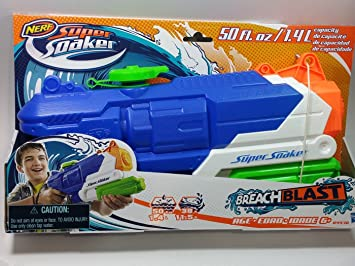Nerf Super Soaker Breach Blast Extra Large Tank Water Gun Blaster