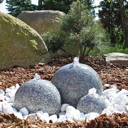 CLGarden Granit Springbrunnen SB1-3 teiliger Kugel Brunen ...