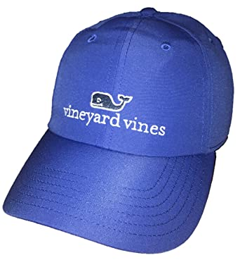 2aede47c Vineyard Vines Performance Adjustable Whale Hat (One Size, Harbor Blue)