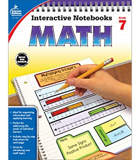 Carson Dellosa Math Interactive Notebook, Grade 6 (Interactive