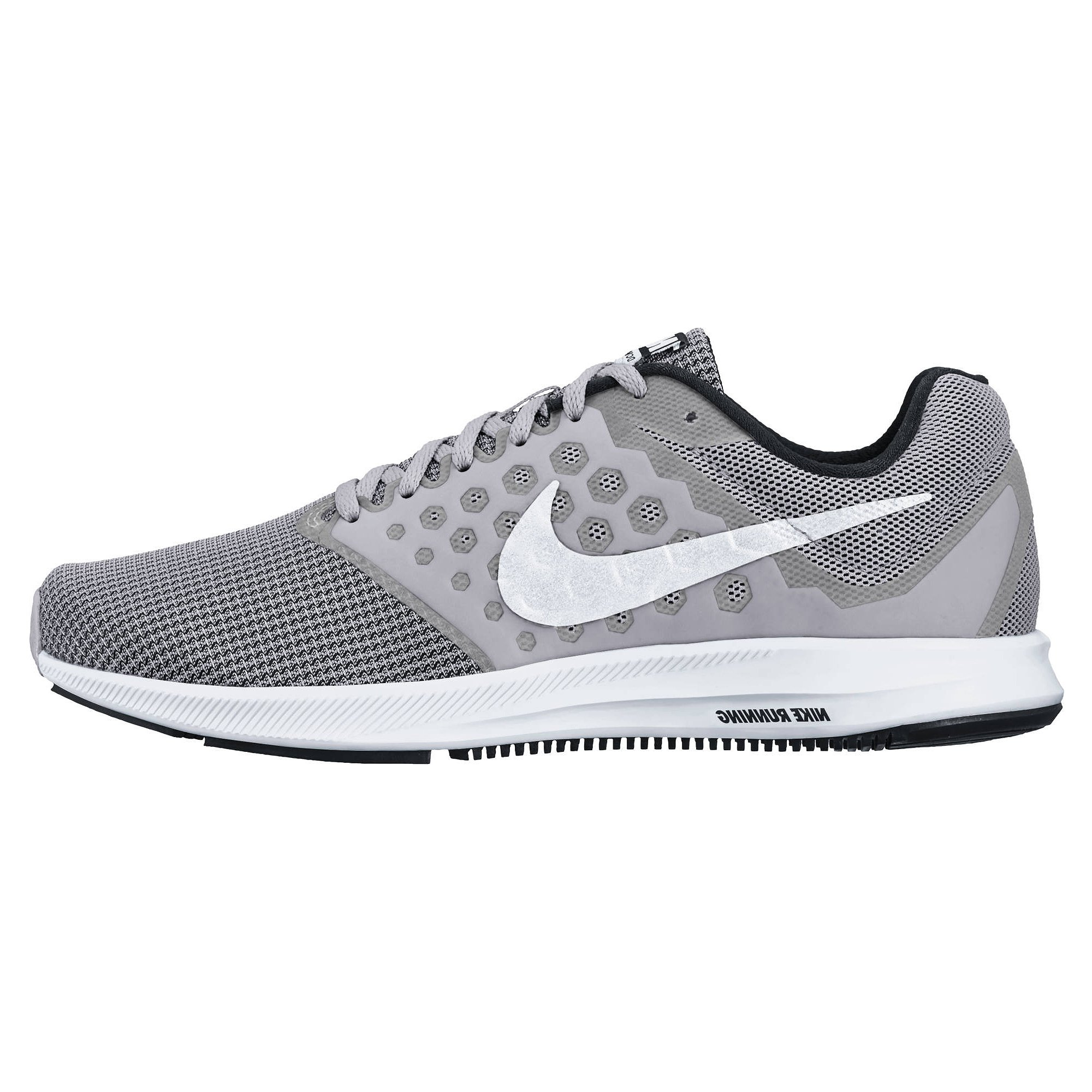016b96a62e08 Galleon - NIKE Mens Downshifter 7 Wolf Grey White Black Size 6