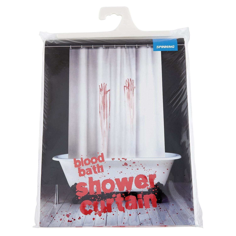 Amazon.com: Spinning Hat Blood Bath Shower Curtain: Home & Kitchen