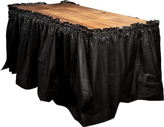 Faldas de mesa desechables – Paquete de 6 faldas de mesa de ...