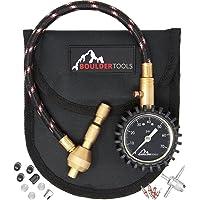 Todos los nuevos Boulder Herramientas Heavy Duty Rapid Tire Deflactor Kit con tapones de válvula, válvula núcleos & 4-in-1Tire Válvula Herramienta