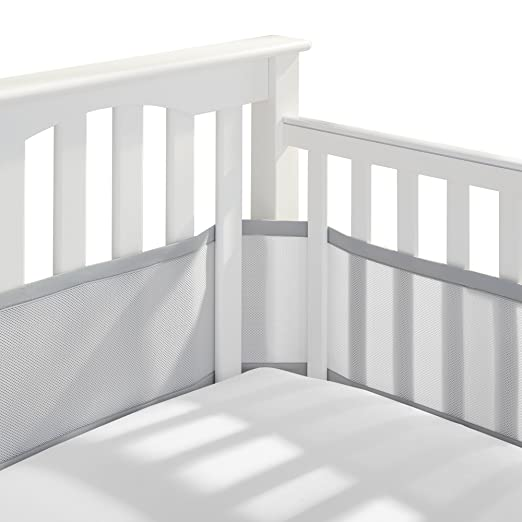 BreathableBaby Classic Patented, Safer for Baby, Anti-Bumper, Non-Padded, Breathable Mesh Crib Liner