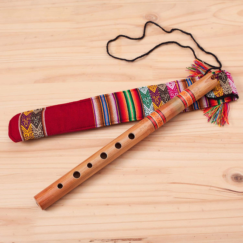 NOVICA Artesanal de madera Andino Quena Flauta con estuche de transporte, la paz de flauta marrón: Amazon.es: Hogar