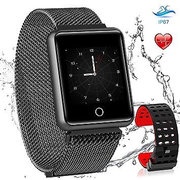 AGPTEK Smartwatch Mujer, Reloj Inteligente Deportivo Impermeable para con Pantalla a Color, Correa Cambio y GPS, Monitor de Sueño, Recordatorio de ...