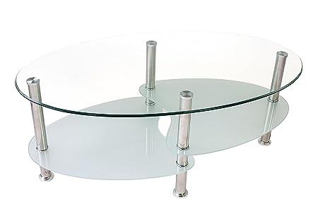 Avanti Trendstore - Biagio - Mesa ovalada de salón de cristal ...