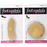 Foot Petals Women's Tip Toes 3 Pack & Heavenly Heelz 3 Pack Cushion Combo
