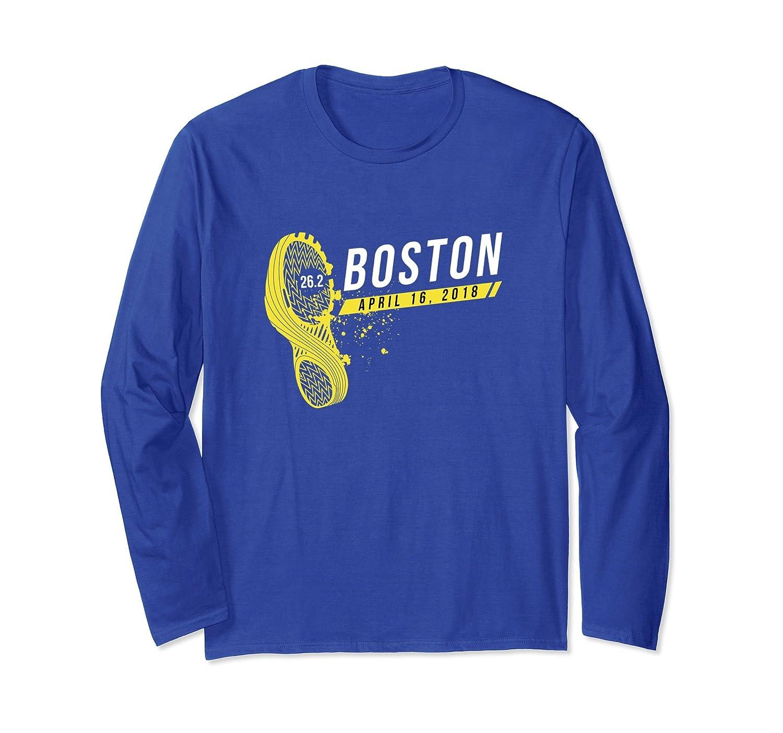 Boston Runner 26 Mile Marathon Long Sleeve TShirt 2018-TH
