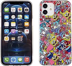 iPhone 12 6.1 Inch TPU Case CASEVEREST 3D Print Design Slim Fit Cover iPhone 12 Pro Spongebob Squarepants Patrick Stickers Bomb