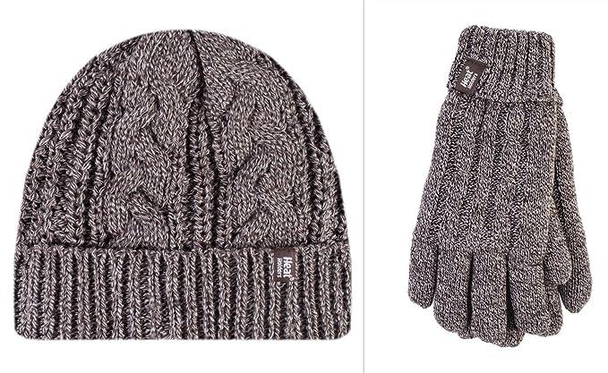 884a0746053a HEAT HOLDERS - Ensemble bonnet, écharpe et gants - Femme - beige ...