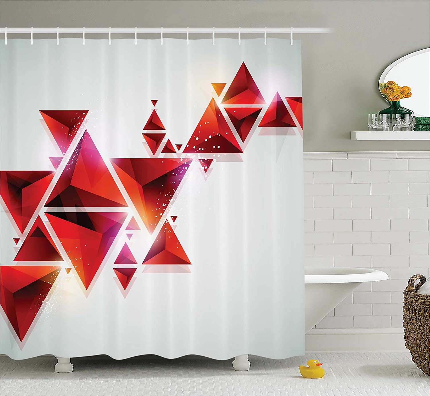 Amazon Abstract Decor Shower Curtain by Ambesonne Geometric