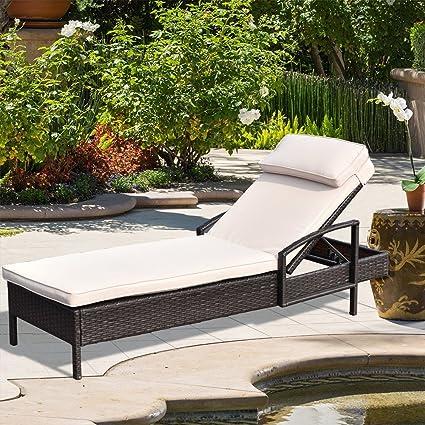 Galvanized Patio Furniture.Amazon Com Palmdale Lounge Chair Wicker Rattan Couch Patio
