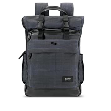 Amazon.com   Solo Cameron Waxed Canvas Rolltop Backpack, Plaid   Casual  Daypacks c987aa2c58