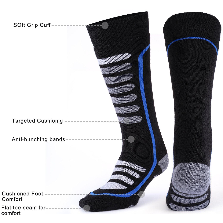 Andake Merino Wool Ski Socks High Performance Thermal Warm Cushioned Boot Socks Outdoor Winter Sport Snowboard Socks