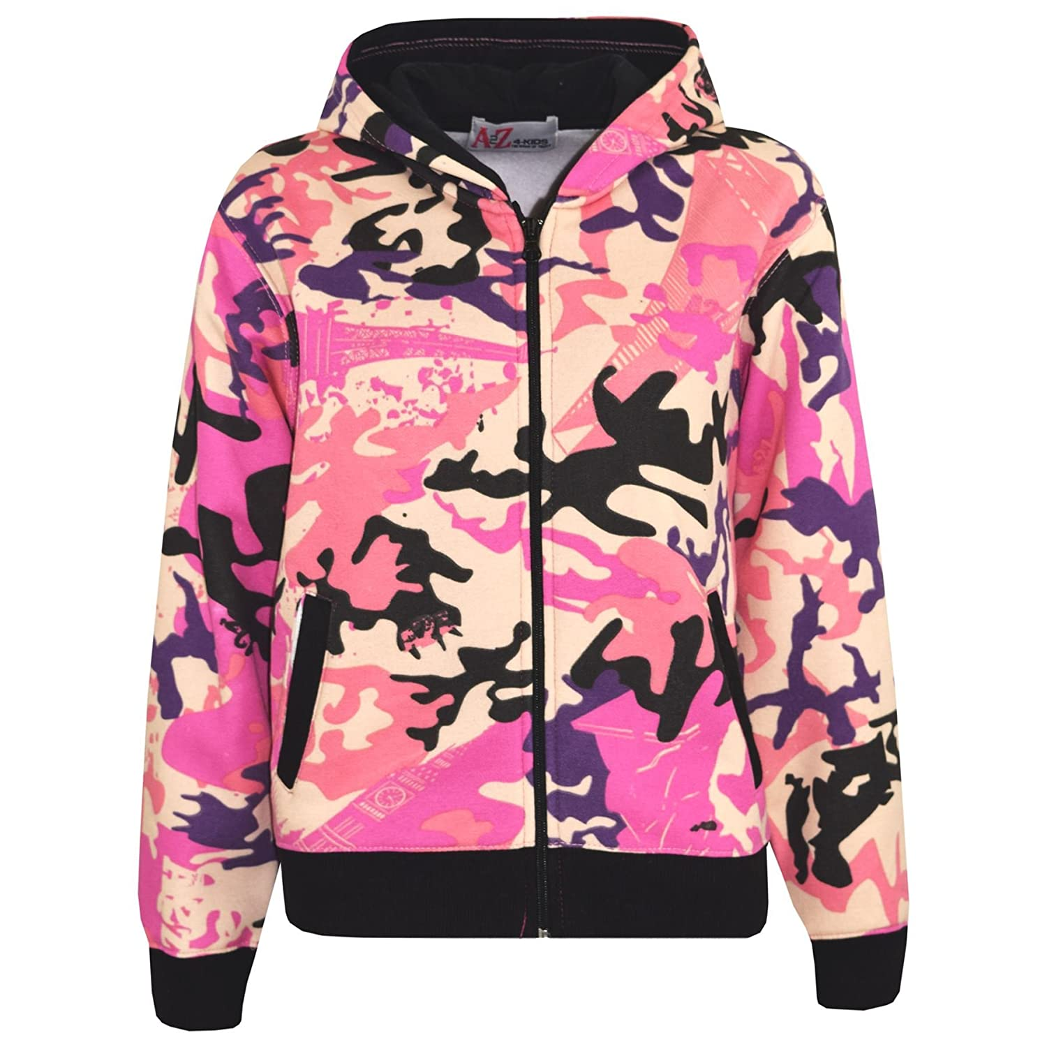 A2Z 4 Kids/® Boys Girls Tracksuit Kids Baby Pink Camouflage Jogging Suit Top Bottom 5-13 Year