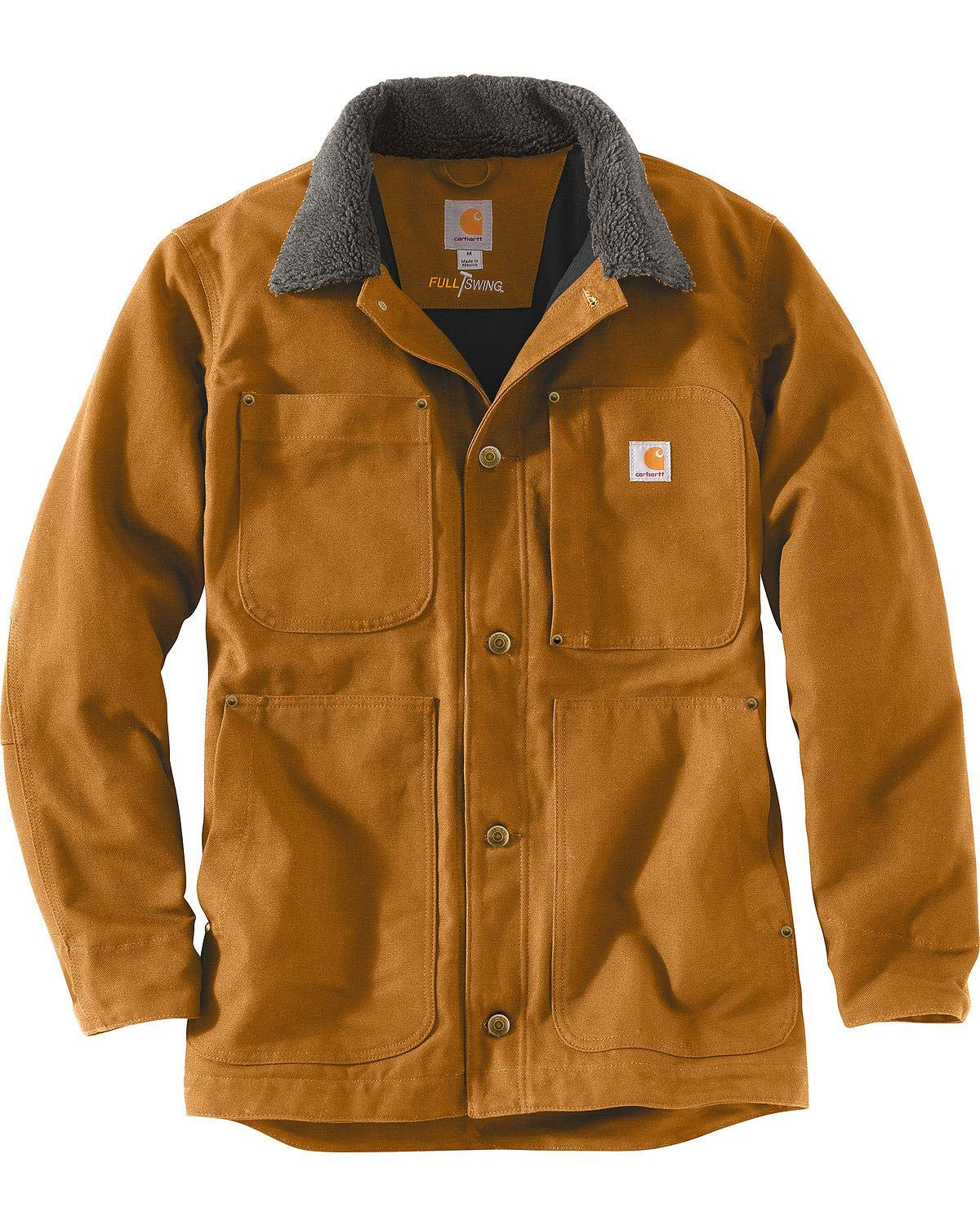 Carhartt Men's Full Swing Chore Coat, Brown, Large by Carhartt