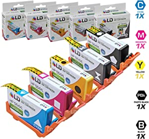 LD Remanufactured Ink Cartridge Replacement for HP 564XL High Yield (1 Black, 1 Cyan, 1 Magenta, 1 Yellow, 1 Photo Black, 5-Pack)