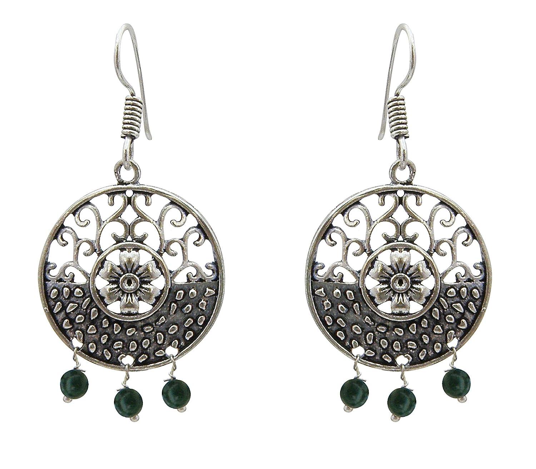 Jwellmart Gypsy Bohemian Tribal Trendy Oxidized Drop Dangle Indian Earrings for Women and Girls