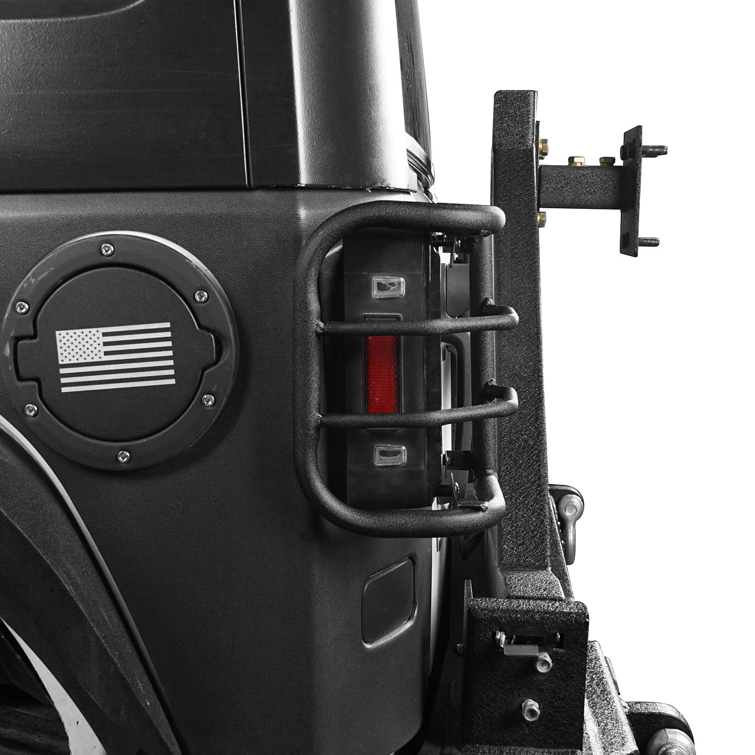 Rugged Off Road Jeep Wrangler Matte Black Rear Tail Light Guards Cover Protector for 2007-2018 Wrangler JK /& JK Unlimited Pair