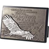 """Lighthouse Christian Products Moments of Faith Soaring Eagle Rectangle Sculpture Plaque, 4 1/2 x 6 1/2"""""""
