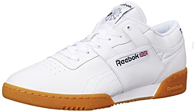 Reebok Men's WORKOUT LOW Shoe, White/Gum, ...