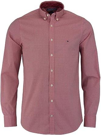 Camisa Tommy Hilfiger ajuste slim estampada MW0MW03001 - Color - ROJO, Talla - M: Amazon.es: Ropa y accesorios