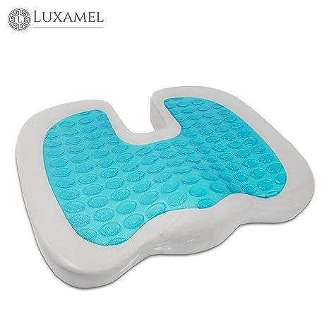Cojín de asiento ortopédico con recubrimiento de gel Alivia ...