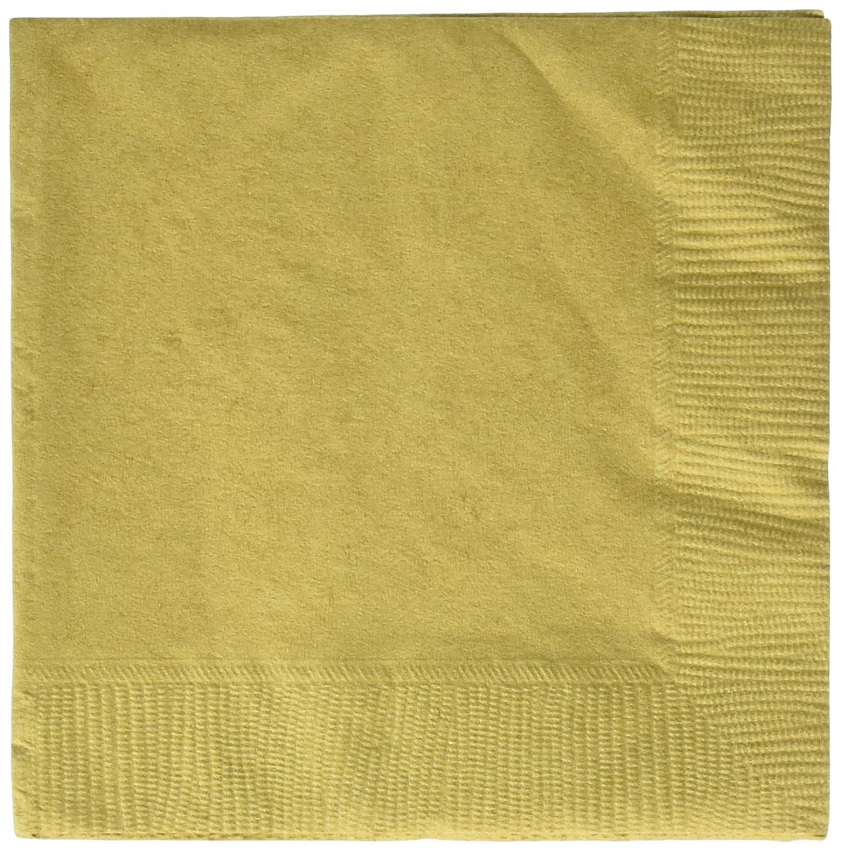 Reducción de precio Amscan Servilletas pequeñas, Color Oro (Travis Designs 50015-19)