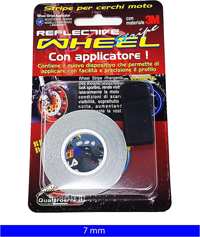 7/mm x 6/m color azul Cintas reflectantes para ruedas Quattroerre 10285/