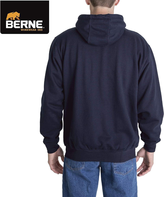 Berne Mens Original Fleece Quarter Zip Thermal Lined