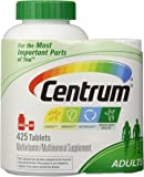 Centrum Multivitamin - Adults, Family Size (425 TOTAL TABLETS including a bonus travel size bottle)